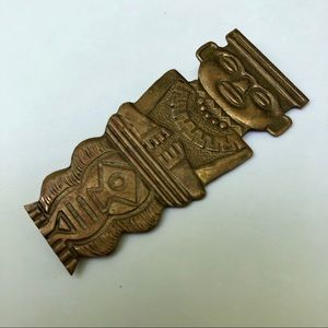 Vintage figural Mayan brooch pin